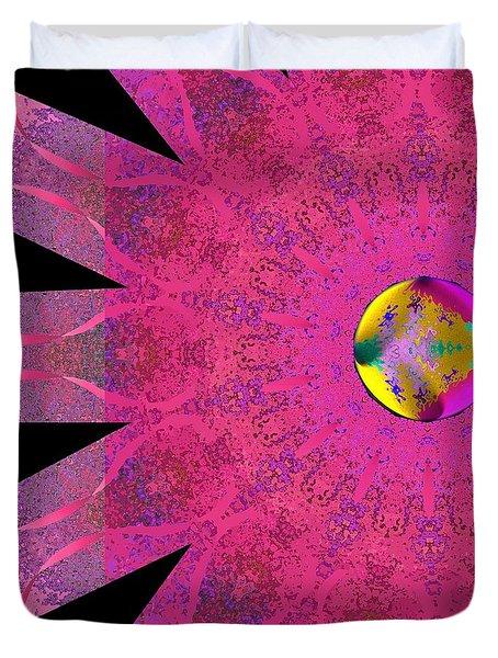 Pink Ribbon Of Hope Duvet Cover by Alec Drake