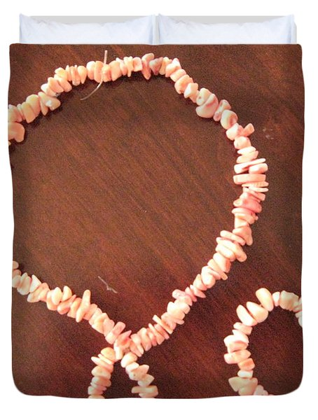 Pink Stone Necklace Bracelet Duvet Cover by Sonali Gangane