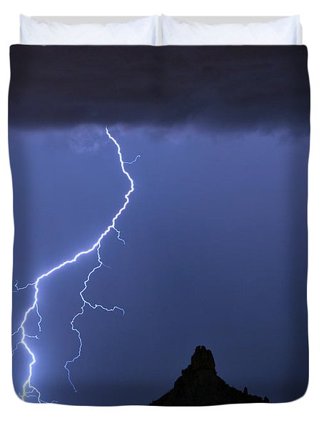 Pinnacle Peak Lightning  Duvet Cover by James BO  Insogna