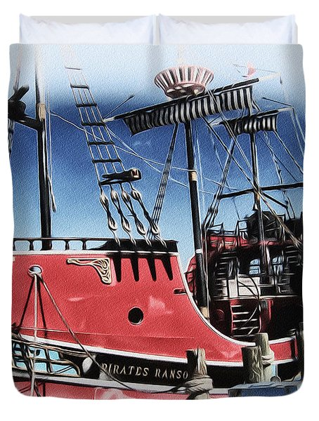 Pirates Ransom - Clearwater Florida Duvet Cover by Bill Cannon