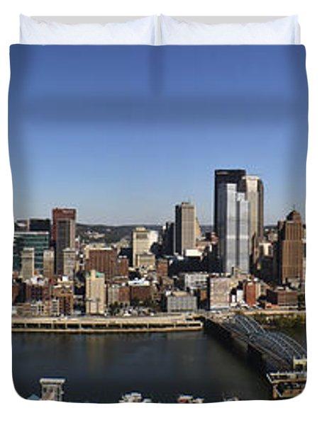 Pittsburgh Panoramic Duvet Cover by Teresa Mucha