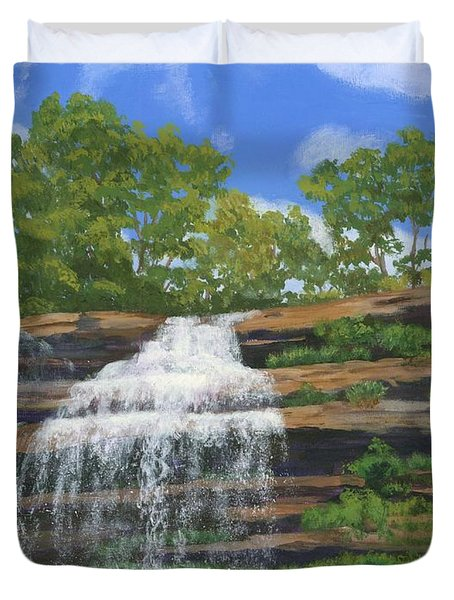 Pixley Falls Duvet Cover by Lynne Reichhart
