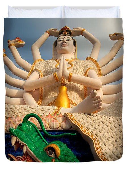 Plai Laem Buddha Duvet Cover by Adrian Evans