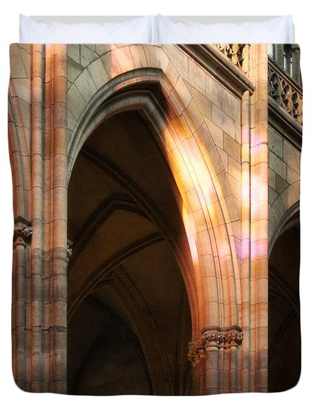 Play Of Light And Shadow - Saint Vitus' Cathedral Prague Castle Duvet Cover by Christine Till