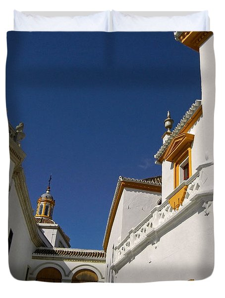 Plaza De Toros De La Real Maestranza - Seville Duvet Cover by Juergen Weiss