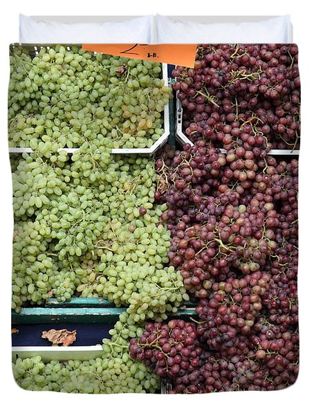 Pluots Grapes and Tomatoes - 5D17903 Duvet Cover by Wingsdomain Art and Photography
