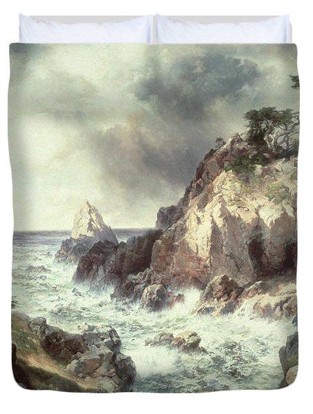Point Lobos At Monterey In California Duvet Cover by Thomas Moran