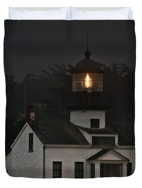 Point Pinos Lighthouse CA Duvet Cover by Christine Till