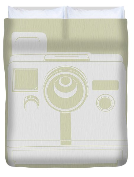 Polaroid Camera 3 Duvet Cover by Naxart Studio