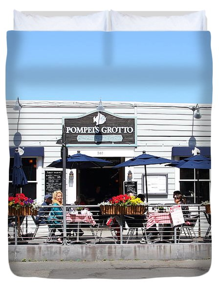 Pompeis Grotto Restaurant . Fishermans Wharf . San Francisco California . 7d14197 Duvet Cover by Wingsdomain Art and Photography