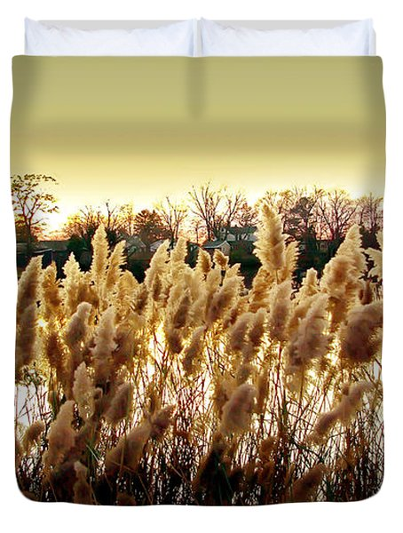 Pond Grasses Duvet Cover by Brian Wallace