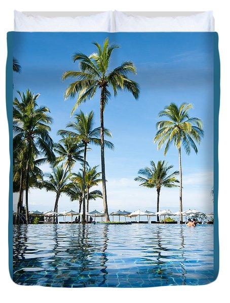 Poolside Duvet Cover by Atiketta Sangasaeng