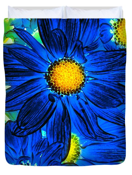 Pop Art Daisies 15 Duvet Cover by Amy Vangsgard