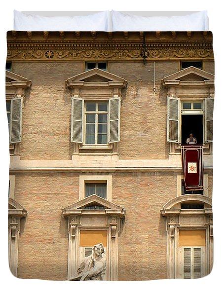 Pope Benedict XVI c Duvet Cover by Andrew Fare