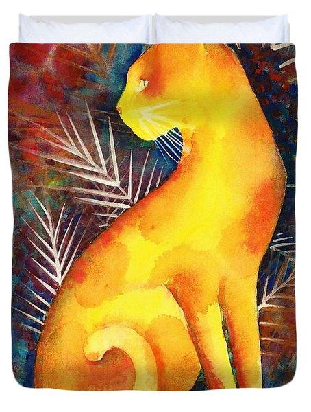 Popoki Hulali Duvet Cover by Frances Ku