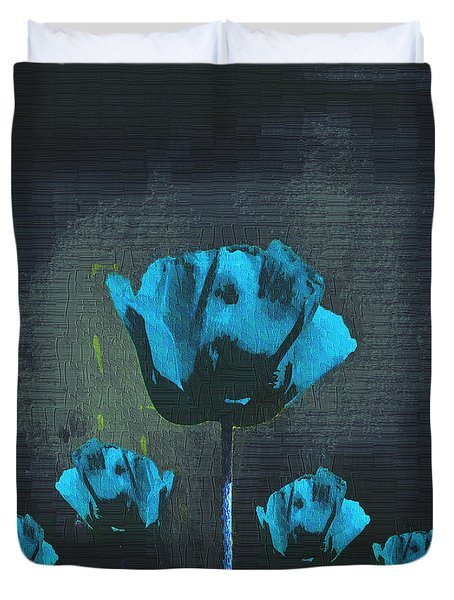 Poppies Fun 01 - Bb Duvet Cover by Variance Collections