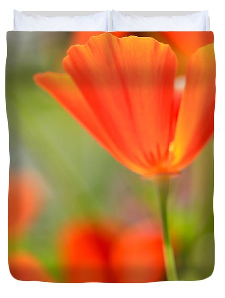 Poppies In The Wind Duvet Cover by Heidi Smith