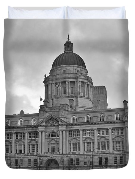 Port Of Liverpool Building Duvet Cover by Georgia Fowler