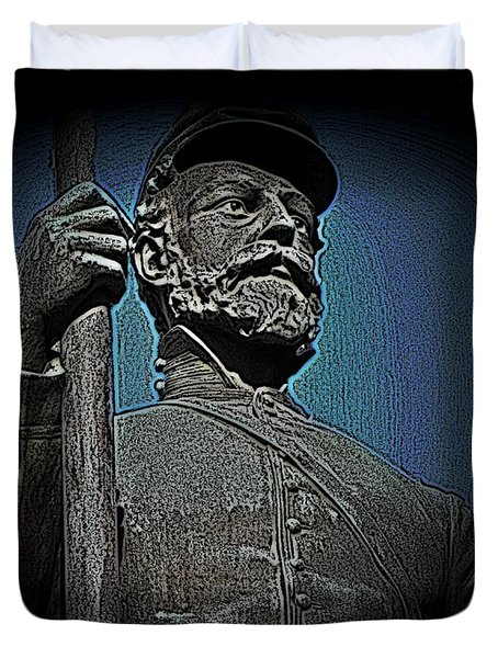Portrait 30 American Civil War Duvet Cover by David Dehner