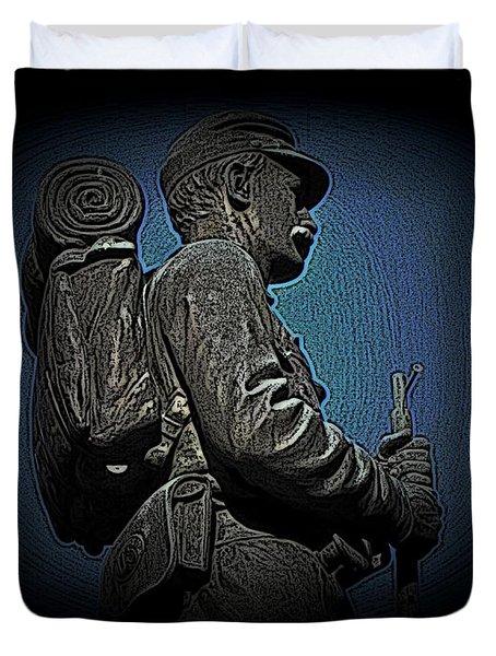 Portrait 31 American Civil War Duvet Cover by David Dehner