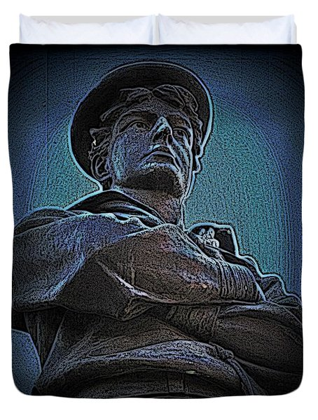 Portrait 33 American Civil War Duvet Cover by David Dehner