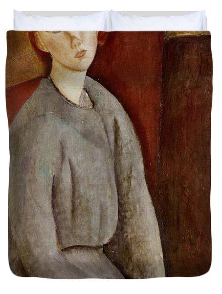 Portrait Of Annie Bjarne Duvet Cover by Amedeo Modigliani