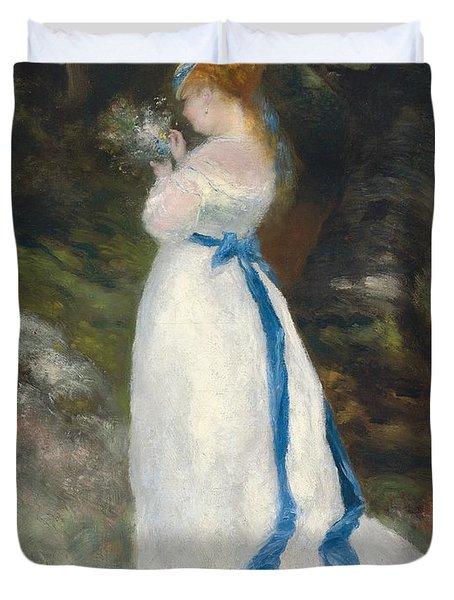 Portrait Of Lise   Duvet Cover by Pierre Auguste Renoir