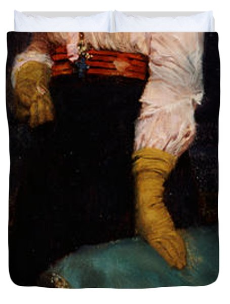 Portrait Of Miss Macwirter Duvet Cover by Sir Lawrence Alma-Tadema