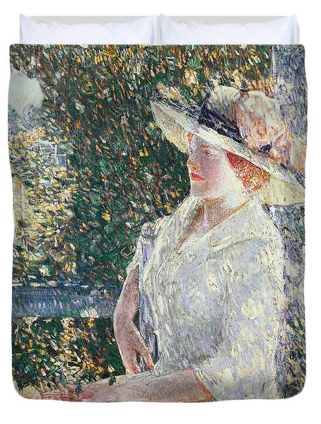 Portrait Of Miss Weir Duvet Cover by Childe Hassam