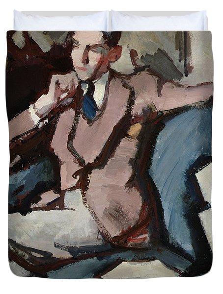 Portrait Of Willie Peploe Duvet Cover by Samuel John Peploe