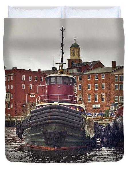 Portsmouth Tugs Duvet Cover by Joann Vitali