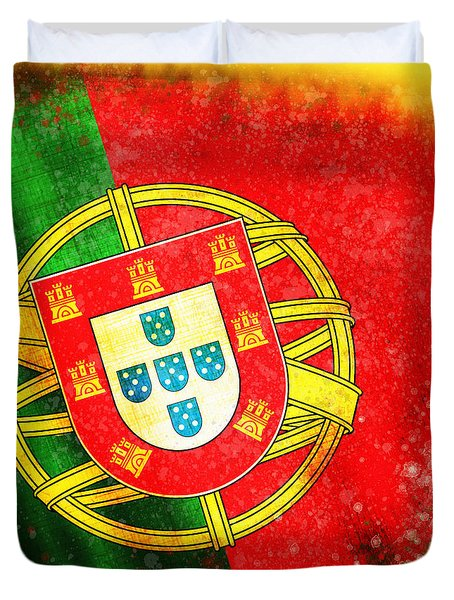 portugal flag  Duvet Cover by Setsiri Silapasuwanchai