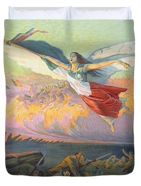Poster For The National Loan Duvet Cover by Michel Richard-Putz