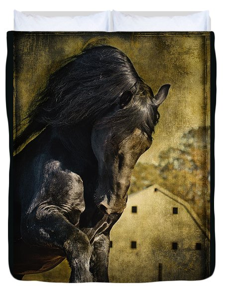 Power House Horse D1496 Duvet Cover by Wes and Dotty Weber