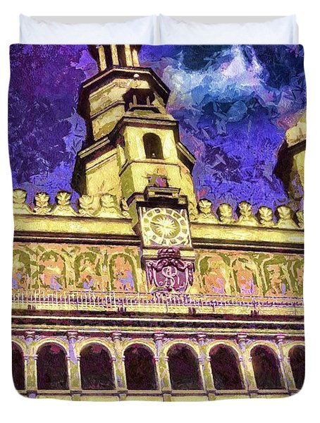 Poznan City Hall Duvet Cover by Mo T