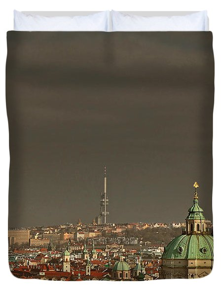Prague - A Symphony In Stone Duvet Cover by Christine Till