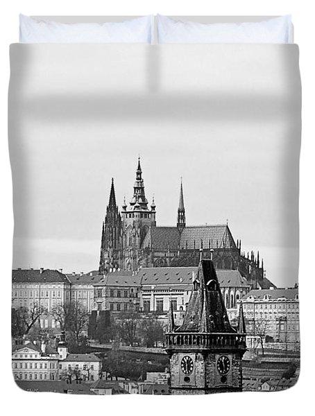 Prague - City of a Hundred Spires Duvet Cover by Christine Till