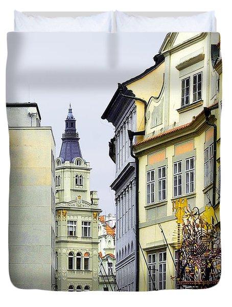 Prague - Walking In The Footsteps Of Kings Duvet Cover by Christine Till
