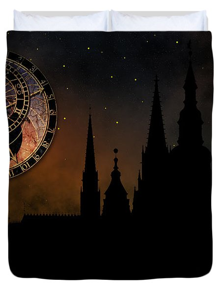Prague casle - Cathedral of St Vitus - monuments of mysterious c Duvet Cover by Michal Boubin