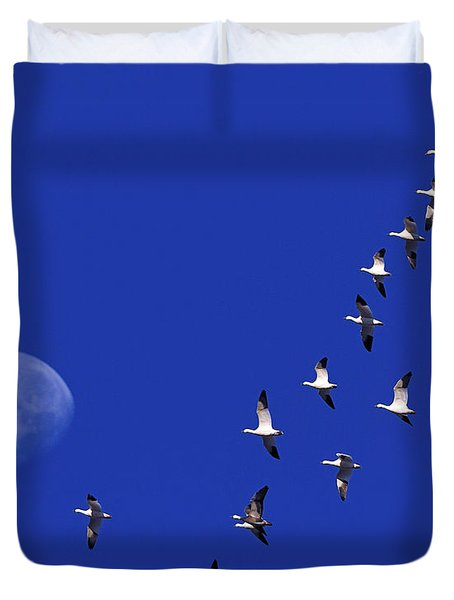 Prairie Migration Duvet Cover by Tony Beck
