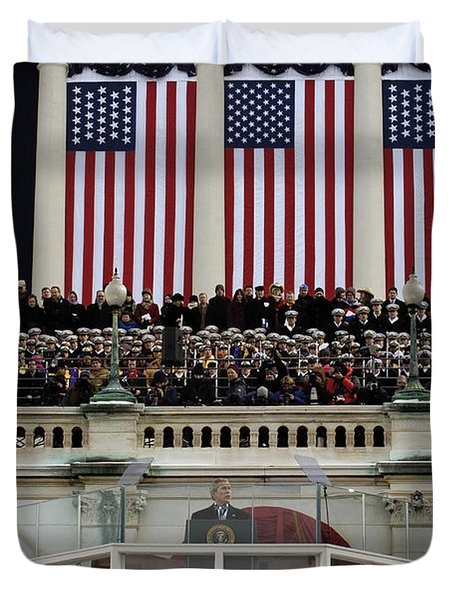 President George W. Bush Makes Duvet Cover by Stocktrek Images