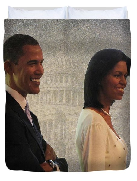 President Obama and First Lady Duvet Cover by David Dehner