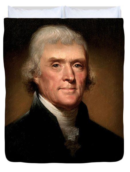 President Thomas Jefferson  Duvet Cover by War Is Hell Store