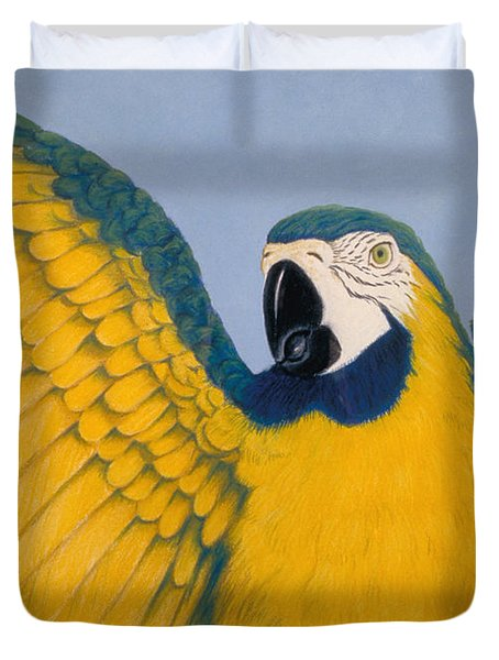 Pretty Bird Duvet Cover by Audrey Peaty