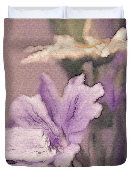 Pretty Bouquet - A05t01 Duvet Cover by Variance Collections
