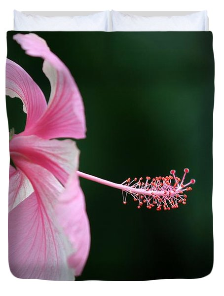 Pretty Pink Hibiscus Duvet Cover by Sabrina L Ryan