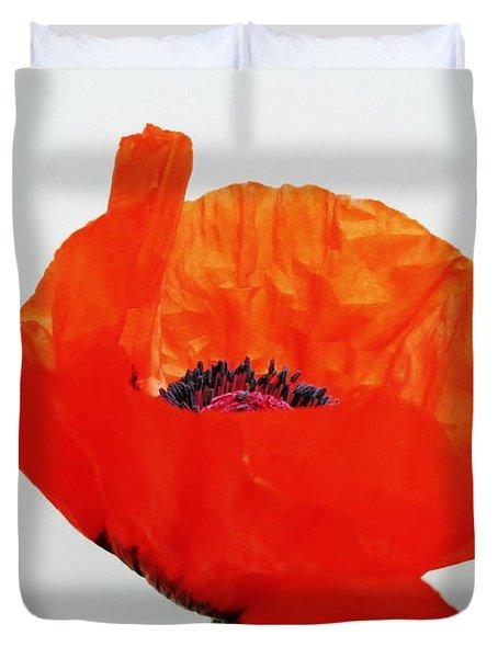 Pretty Poppy Duvet Cover by Ramona Johnston