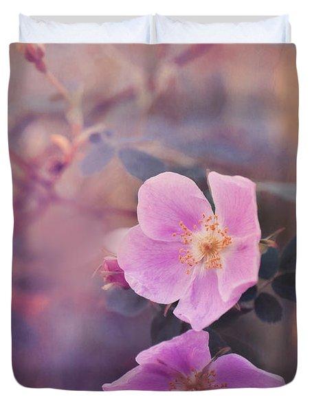 Prickly Rose Duvet Cover by Priska Wettstein