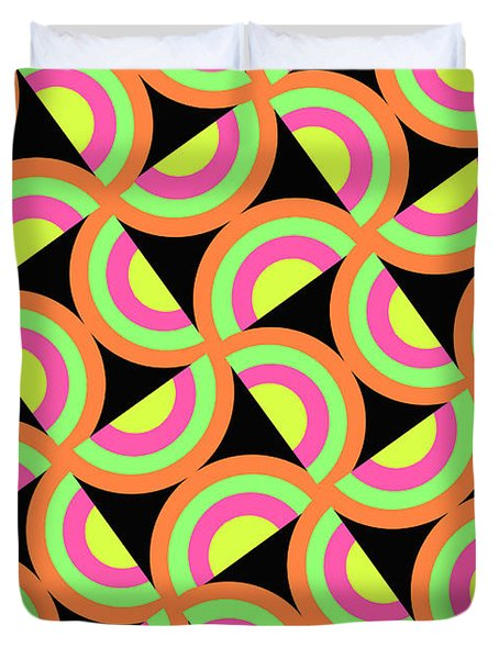 Psychedelic Squares Duvet Cover by Louisa Knight