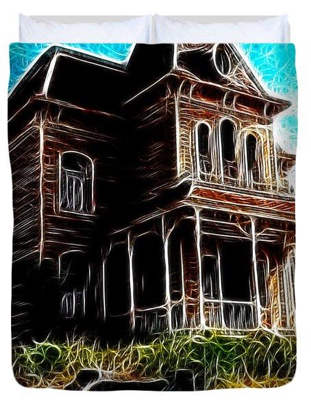 Psycho House Duvet Cover by Paul Van Scott